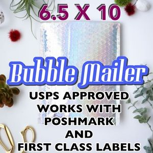 25 6.5X10 Silver Holo Bubble Mailers PRICE IS FIRM